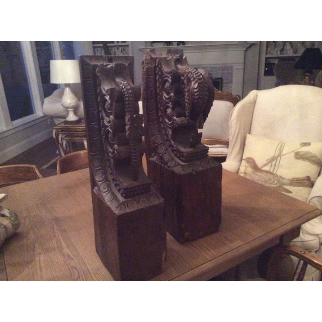 Image of Gorgeous Carved Corbels From Hearst Estate