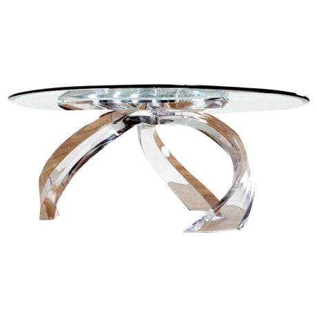 Image of Haziza Modern Lucite Cyclone Coffee Table