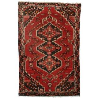 Hand-Knotted Wool Persian Hamedan - 4′3″ × 6′7″