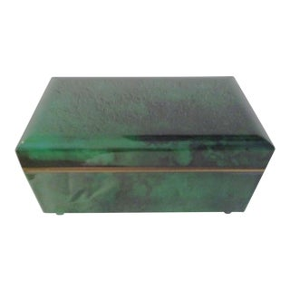Otagiri Faux Malachite Musical Jewel Case