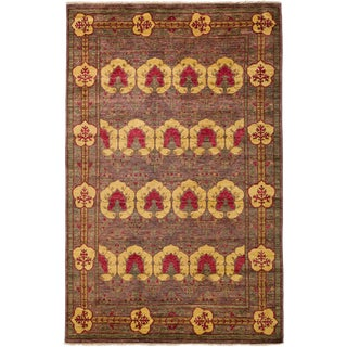 """Arts & Crafts Hand Knotted Area Rug - 5'9"""" X 9'5"""""""