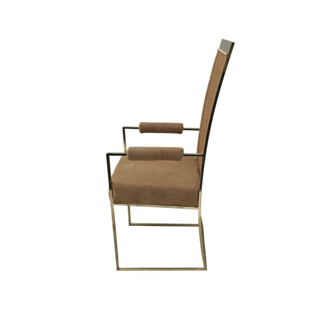 Milo Baughman Cane Back Arm Chairs - A Pair - Image 7 of 9