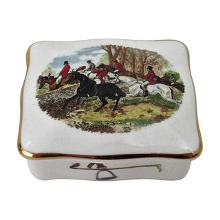 Hunt Scene Bone China Box