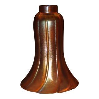 Frederic Carder Steuben Glassworks Gold Aurene Lamp Post