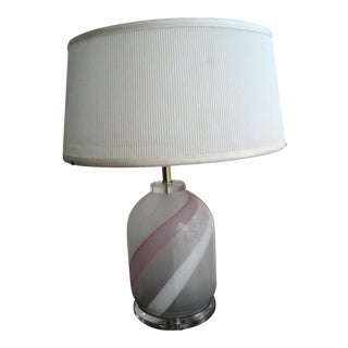 1970's Bauer Lucite & Glass Table Lamp