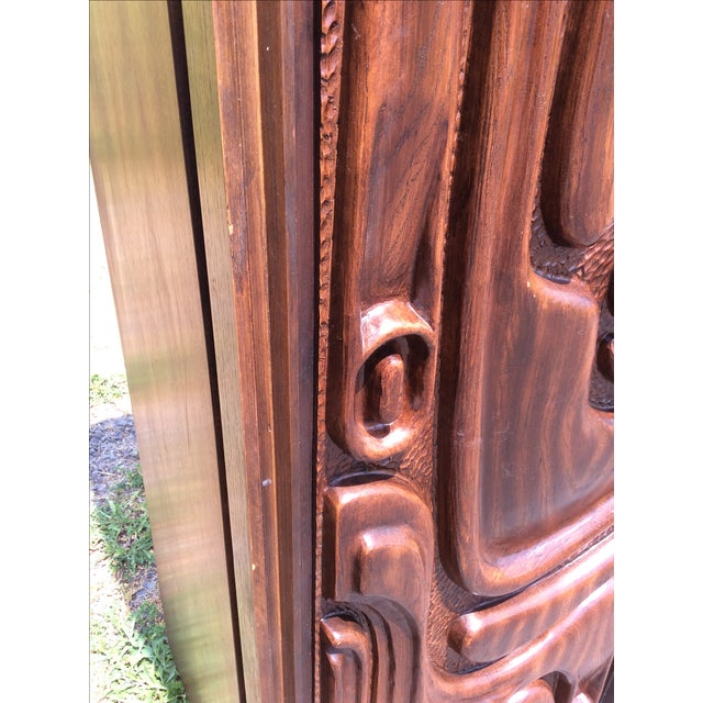 Witco Oceanic Style Bar Cabinet Tiki - Image 8 of 11