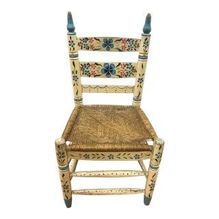 Primitive Hand Painted Folk Art Child's Chair