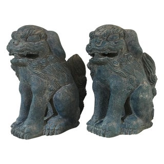 Vintage Foo Dog Statues - A Pair