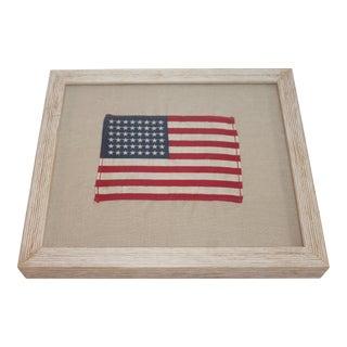 Framed American Flag Textile