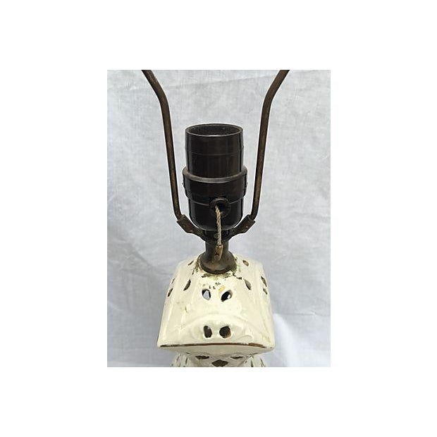 Ivory Sculptured Vintage Lamp - Image 5 of 5