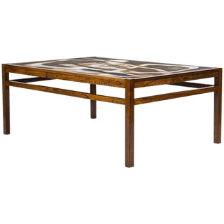 Danish Abstract Tile Coffee Table