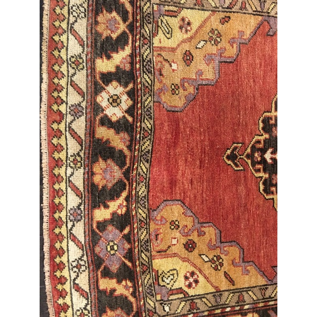 "Bellwether Rugs Vintage Turkish Oushak Runner - 5'8""x9'1"" - Image 3 of 10"