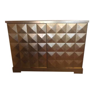 Barbara Barry for Baker Furniture Silver Leaf Diamond Cupboard