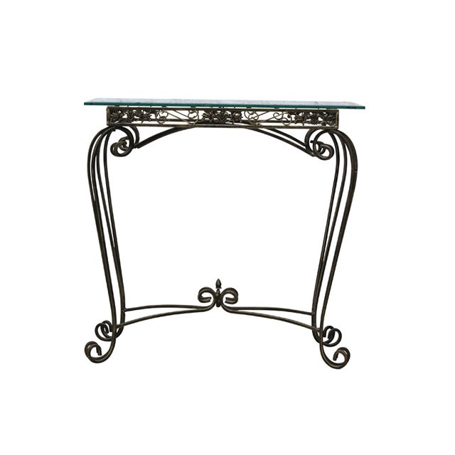 Image of Glass Topped Console Table