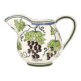 Italian Hand-Painted Grape Pitcher