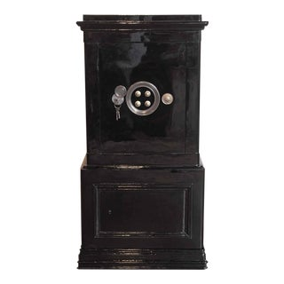 19th Century French Iron & Wood Safe Box with Keys & Combination