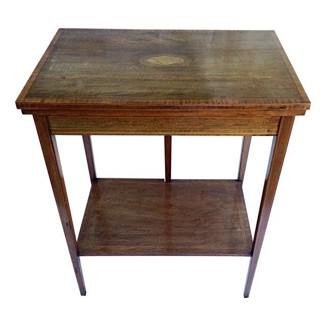 Image of English Edwardian Game Table