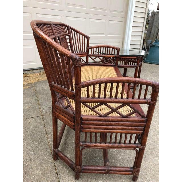 Vintage Brighton Bamboo Wicker Furniture Sofa - Set of 3 - Image 8 of 11