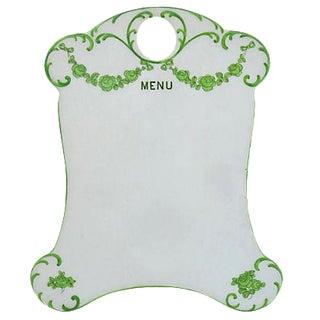 English Porcelain Menu & Bud Vase