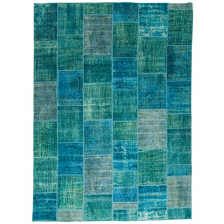 Vintage Patchwork Overdyed Rug - 9'2 X 12'6