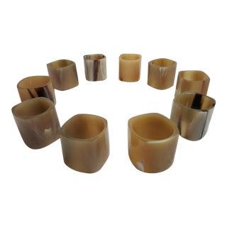 Vintage Acrylic Napkin Rings - Set of 10