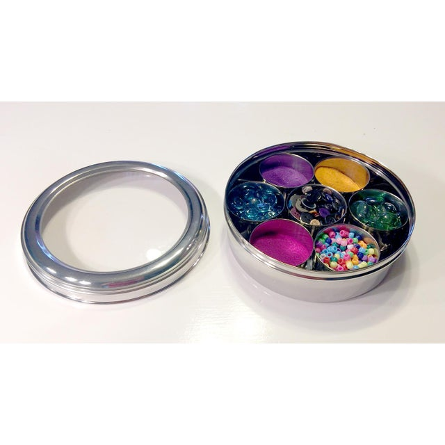 9-Spice Stainless Steel Masala Dabba Spice Box - Image 6 of 7