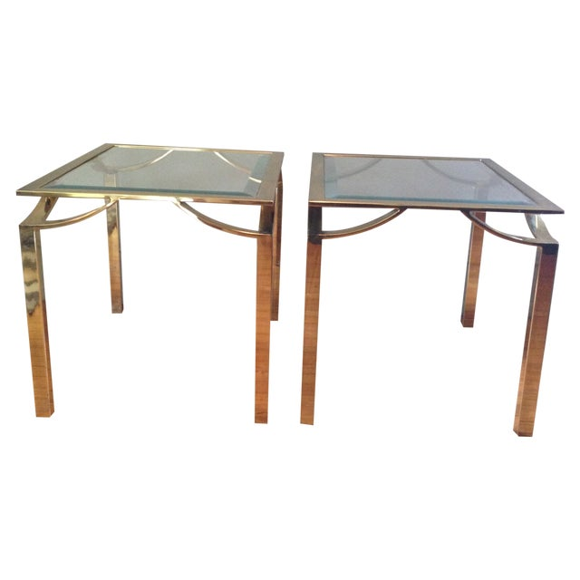 Hollywood Regency Side Tables - Pair - Image 1 of 11