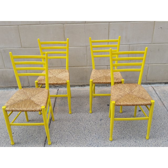 Mid-Century Gio Ponti Style Chairs - Set of 4 - Image 3 of 11