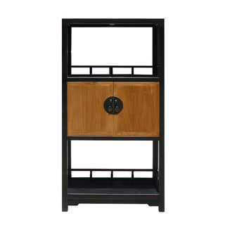 Chinese Black Display Showcase Cabinet