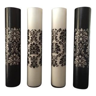 Black and White Vases - Set of 4