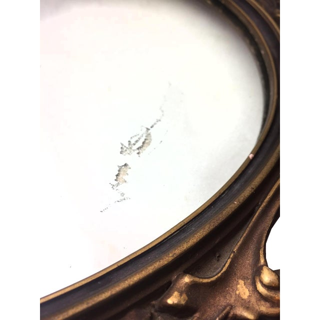 1940s Rococo Hand Carved Wooden Mirror - Image 4 of 5