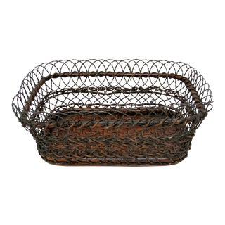 Rustic Wire & Twigs Basket
