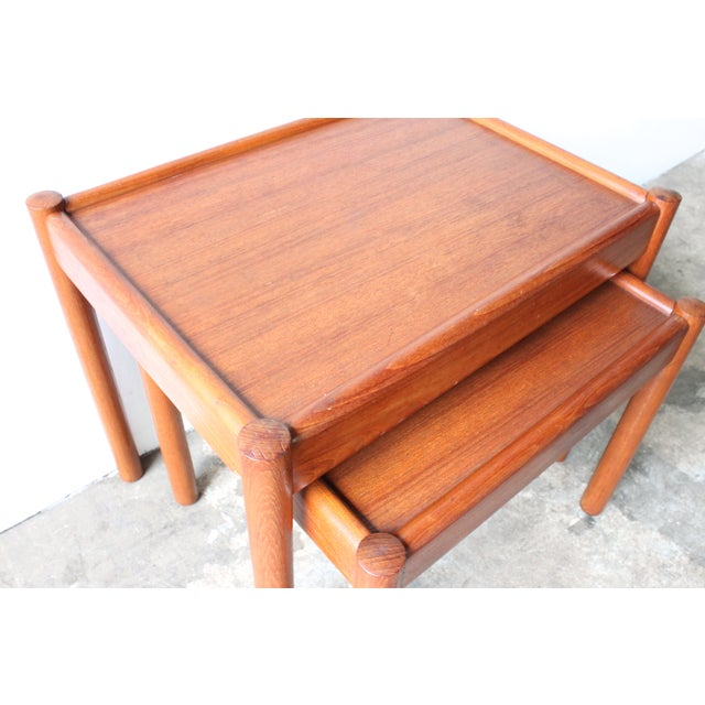 Teak Nesting Tables - A Pair - Image 4 of 4