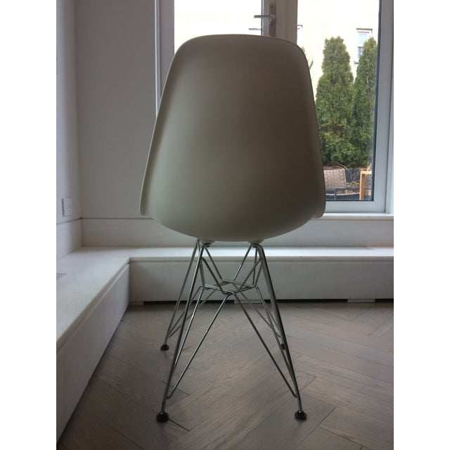 Eames Chrome Eiffel Base Side Chairs - A Pair - Image 5 of 8