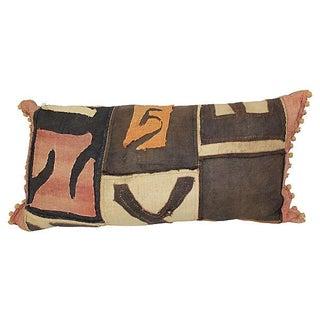 Antique African Kuba Cloth Pillow