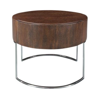 Brown Oak End Table