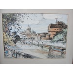 Image of Mid-Century European Watercolor Painting