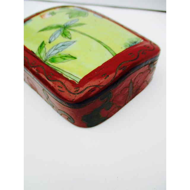 Asian Lacquer Porcelain Boxes - Set of 3 - Image 4 of 10