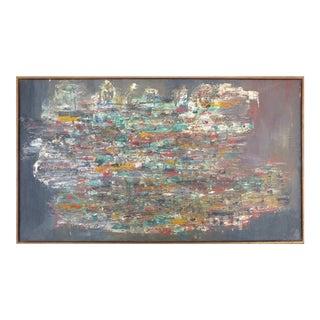 1950s Abstract Oil on Linen