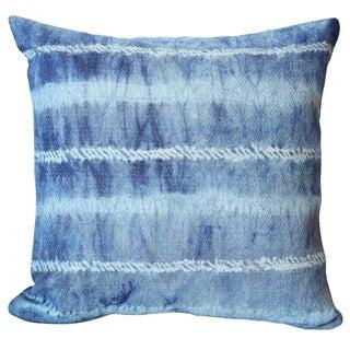 Balinese Indigo Shibori Pillow Cover, Tie Die Throw Pillow