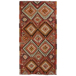 Vintage Mut Kilim | 4'10 x 9'9 Turkish Flatweave