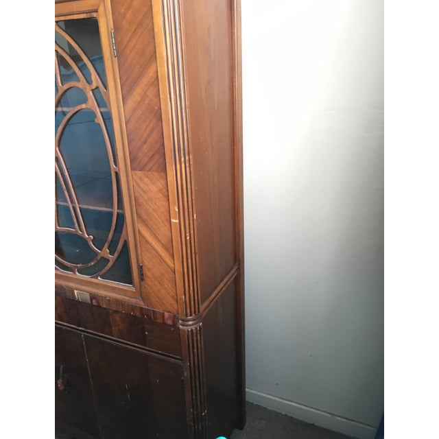 Vintage Waterfall Cabinet or Bar - Image 6 of 9