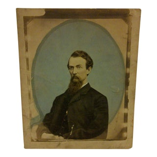 Antique Hand-Tinted Photograph by L. Clarifson