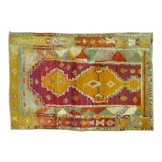 Vintage Turkish Tulu Rug - 2'7'' x 4'