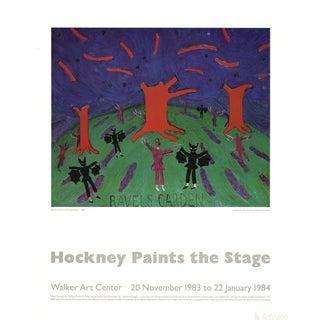 "David Hockney ""Ravel's Garden With Night Glow"" 1983 Poster"