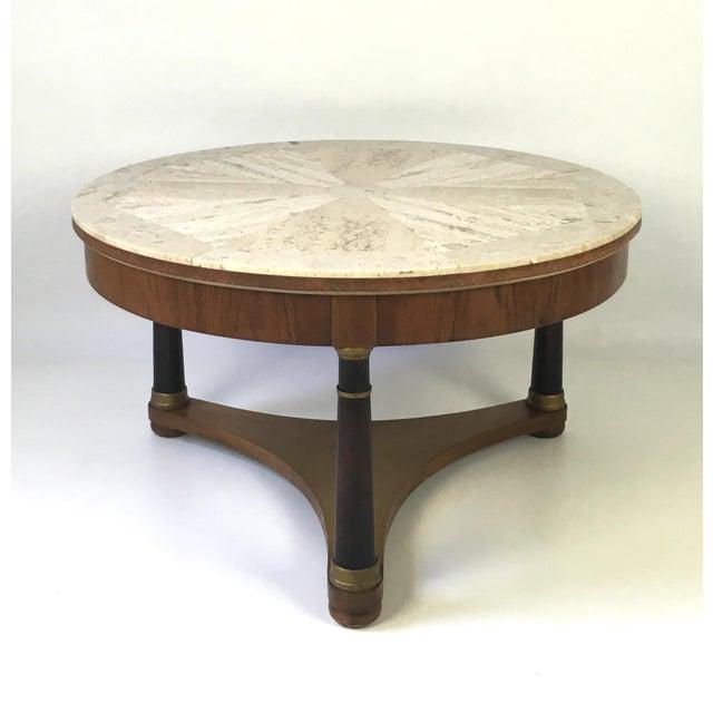 Hollywood Regency Marble Top Coffee Table - Image 3 of 9