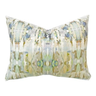 'Sea Glass' Abstract Linen Cotton Pillow