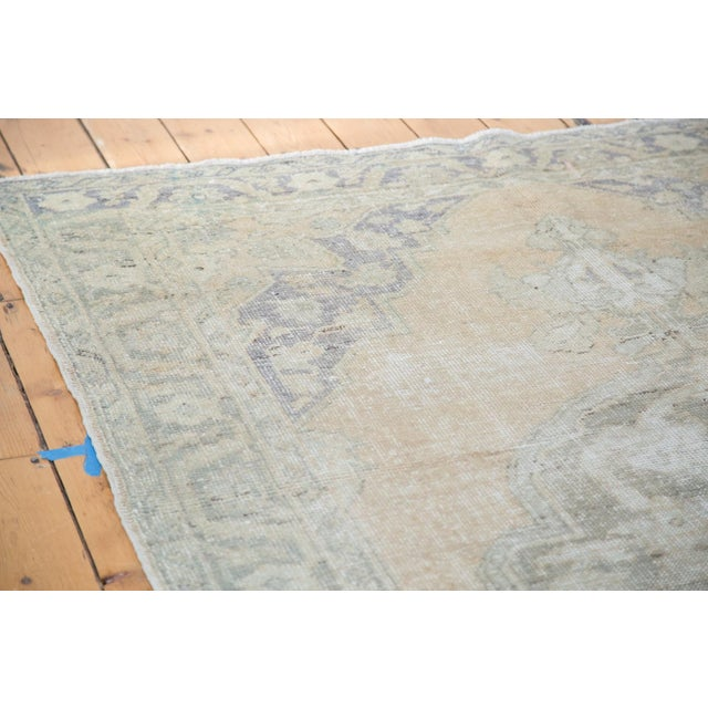 "Peach Distressed Oushak Carpet - 5'9"" x 9'6"" - Image 7 of 8"