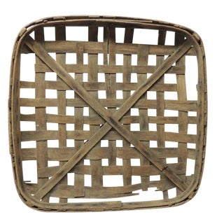 Tobacco Drying Wood Flat Basket