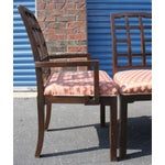 Image of Thomasville Chinoiserie Greek Key Dining Chairs - Set of 6